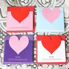 cara membuat kartu ucapan i love you new cute lovely 3pcs heart shaped birthday christmas greeting