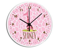 decorative clock giraffe personalized childrens decorative wall clock wall clock