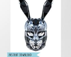 Donnie Darko Halloween Costume Donnie Darko Movie Poster Frank Rabbit Theater Digital