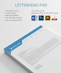 template for letter head 25 professional modern letterhead templates letterhead pad