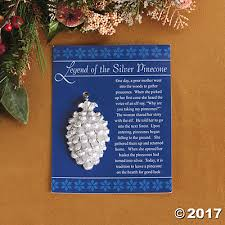 legend of the silver pinecone ornaments