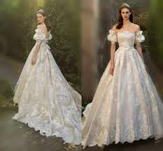 discount fairy lace wedding dresses 2016 off shoulder juliet short