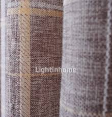 Shabby Chic Curtains For Sale by Plaid Shabby Chic Burlap Organic Buy Curtains On Sale