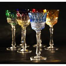 Crystal Gifts Stemware Vases Rare Colors European Colored Crystal Wine Glasses Sosfund