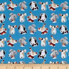 australian shepherd fabric take me home dog heads blue discount designer fabric fabric com
