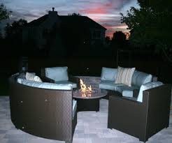 Hd Designs Patio Furniture by Patio Ideas Circle Table Of Patio Set With Fire Pit In The Middle