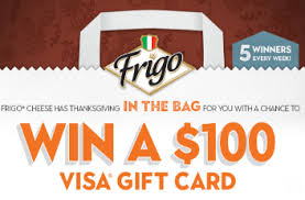 frigo cheese in the bag sweepstakes win a 100 visa gift card