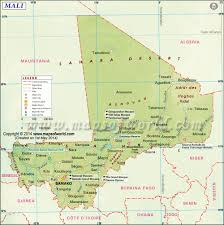 Africa Time Zone Map by Mali Map Map Of Mali