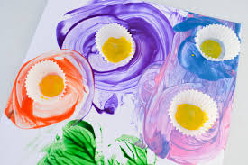 spring flower potato painting a dab of glue will do