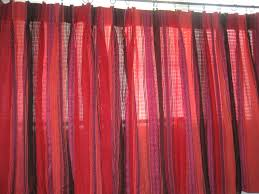 retro kitchen curtains 1950s diner style four panels red red and