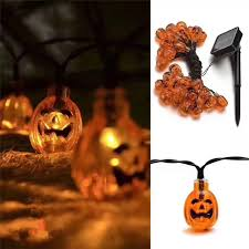 pumpkin lights online shop solar 5m 30 leds pumpkin lights string