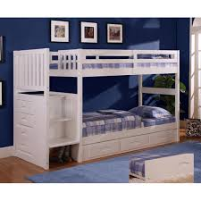 viv rae kaitlyn twin over twin bunk bed with stairs u0026 reviews