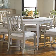 Cozy Dining Room And Kitchen Design With Round White Dining Table - Stanley dining room furniture