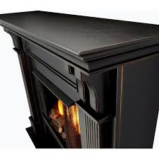 real flame ashley 48 inch gel fireplace with mantel blackwash