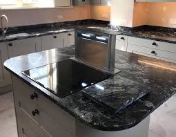 kitchen cabinets with granite top india indian black granite from the sensa range island featuring