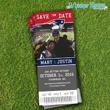 sports ticket invitation diy pdf sports ticket save the date wedding announcement