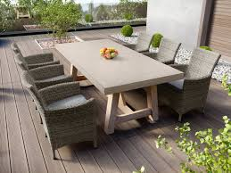 concrete patio dining table tate concrete outdoor dining table with elba rattan chairs dining