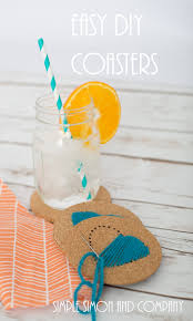 diy hand stitched drink coasters simple simon and company