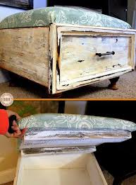 How To Make An Upholstered Ottoman by Give An Old Drawer A New Life By Turning It Into An Ottoman With