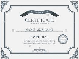 certificate format psd gallery certificate design and template