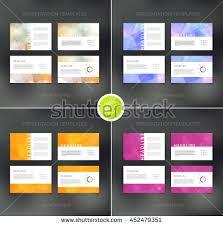 purple pink presentation templates annual report stock vector