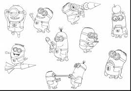 surprising drawing minion coloring pages with despicable me