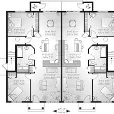 multi family house plans triplex multi family house plans model 2 triplex semi detached modern cool
