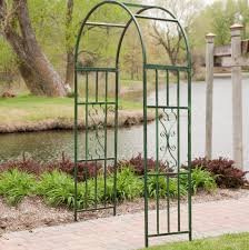metal garden arbor high gothic archway wedding trellis backyard