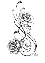 roses skull and swirls tattoo designs photo 3 2017 real photo