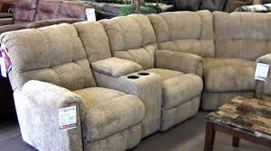 sofas and sectionals com lane recliner sectional 4 recliners with cupholders youtube