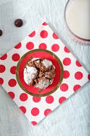 peppermint chocolate crinkle cookies the speckled palate