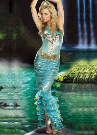 Professional Halloween Costume Womens Sea Queen Mermaid Halloween Costume