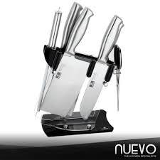 Stainless Steel Kitchen Knives Nuevo Luxury Stainless Steel Kitchen Knife 7 Piece Set Silver