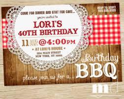 Backyard Birthday Party Invitations by Backyard Birthday Etsy