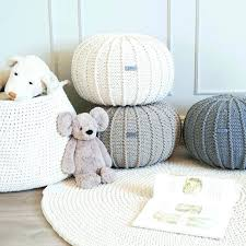 Knitted Ottoman Knitted Pouf Ottoman Jessicastable Co