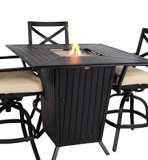 bar height patio set exclusive bar height patio table set boundless ideas with fire pit