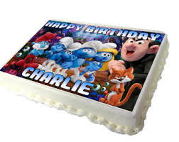 smurf cake toppers etsy