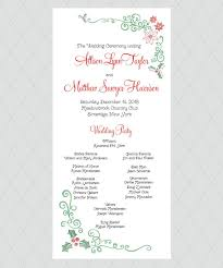 christmas wedding programs christmas mistletoe wedding programs by whimsicalprints on etsy