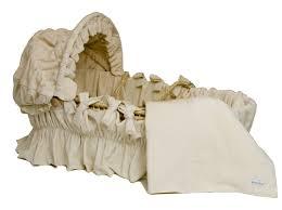 Baby Moses Basket Bedding Set Wendy Ivory Velour Moses Basket Bedding Set With Canopy