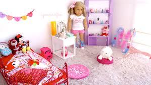 setting up american dollhouse room poppy youtube