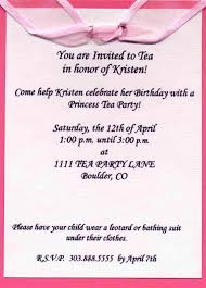 Princess Themed Birthday Invitation Cards Tea Party Invitation Wording U2013 Gangcraft Net
