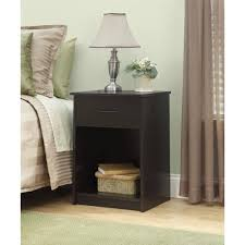 mainstays 1 drawer nightstand end table espresso walmart com