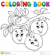 coloring book fruit theme 1 royalty free stock image image 31601986