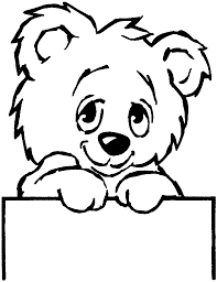 wild and cute animal bear coloring pages for kids womanmate com