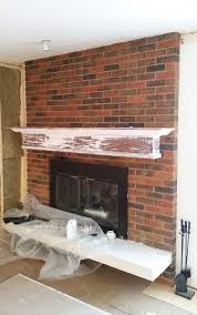 Fireplace Brick Stain by Staining Brick Fireplace Dact Us