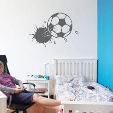 bursting soccer ball wall decal