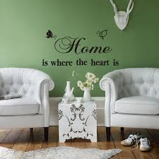 Imported Home Decor by Home Is Where The Heart Is U2026 Quote Home Decor Wall Sticker