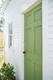 a spring green door with farrow u0026 ball paint remodelista