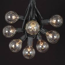 100 clear g50 globe string light set on black wire novelty