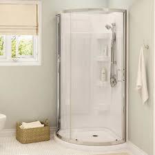 Bathroom Corner Showers Maax Cyrene 34 In Corner Shower Kit